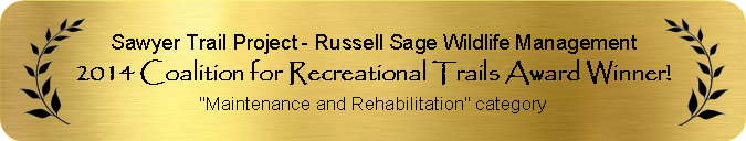 2014 Coalition for Recreational Trails Award Winner for Maintenance and Rehabilitation
