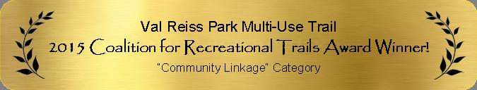 2015 Coalition for Recreational Trails Award Winner