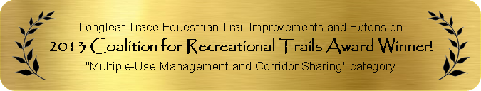 2013 Coalition for Recreational Trails Award Winner for Multiple-Use Management and Corridor Sharing