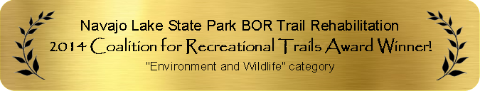 2014 Coalition for Recreational Trails Award Winner for Environment and Wildlife