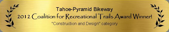 2012 CRT Award Winner for Construction and Design