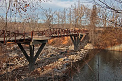 The Spillway Bridge on Lake Fayetteville Trail.