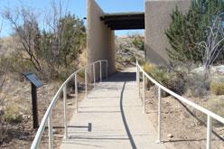 Cement path through desert.