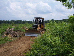 Maintenance being done on the APV trails.