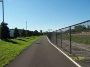 Paved bike path.