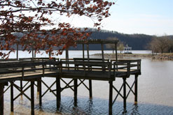 Boardwalk overlooking Clayton Lake.
